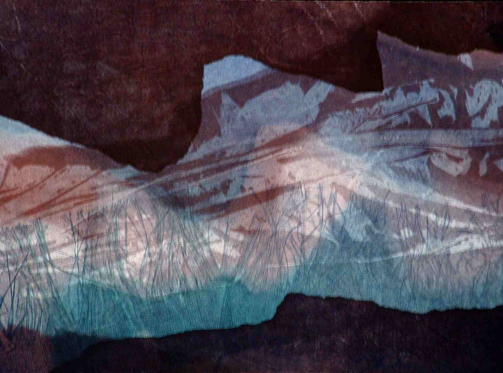 image of monotype Desert Seascape