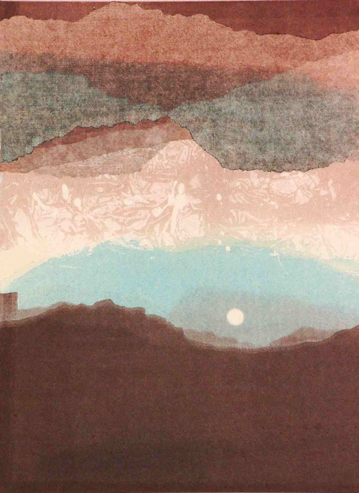 monotype called Moon Over Mesas
