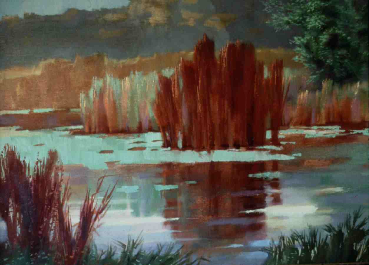 painting called Red Reeds