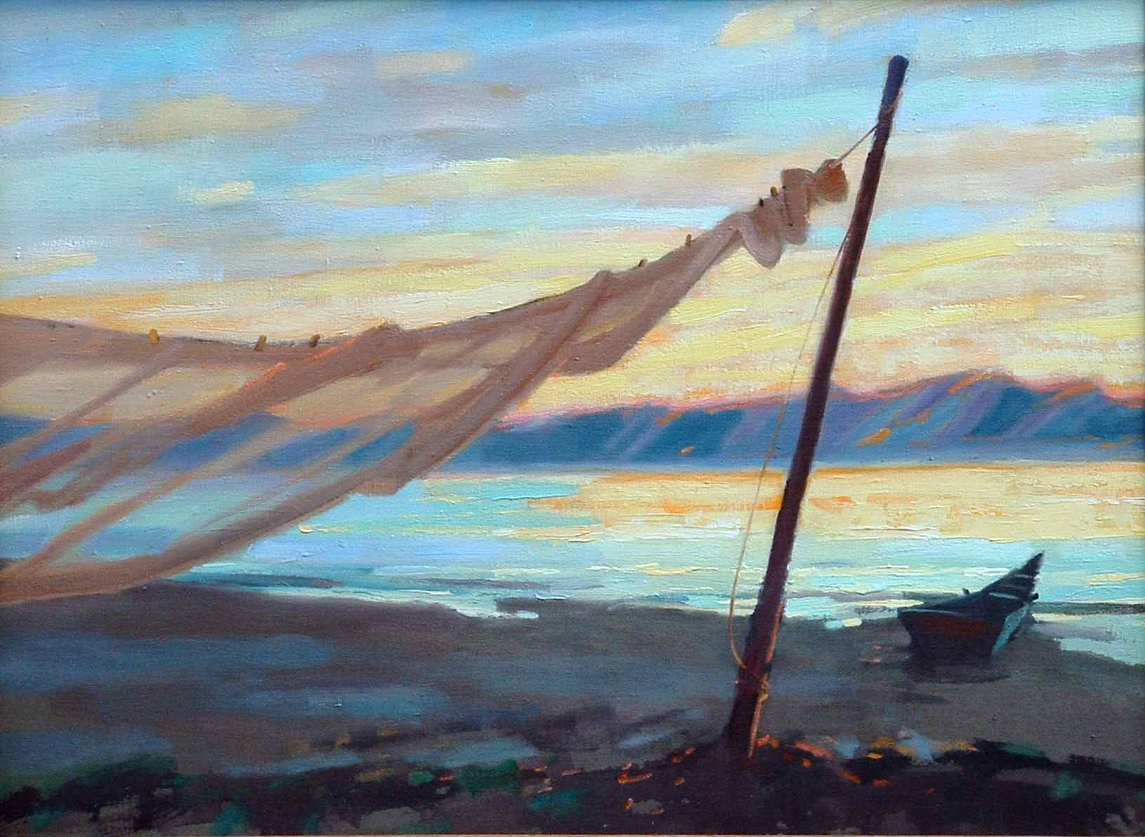 "The oil painting ""Drying Net"""