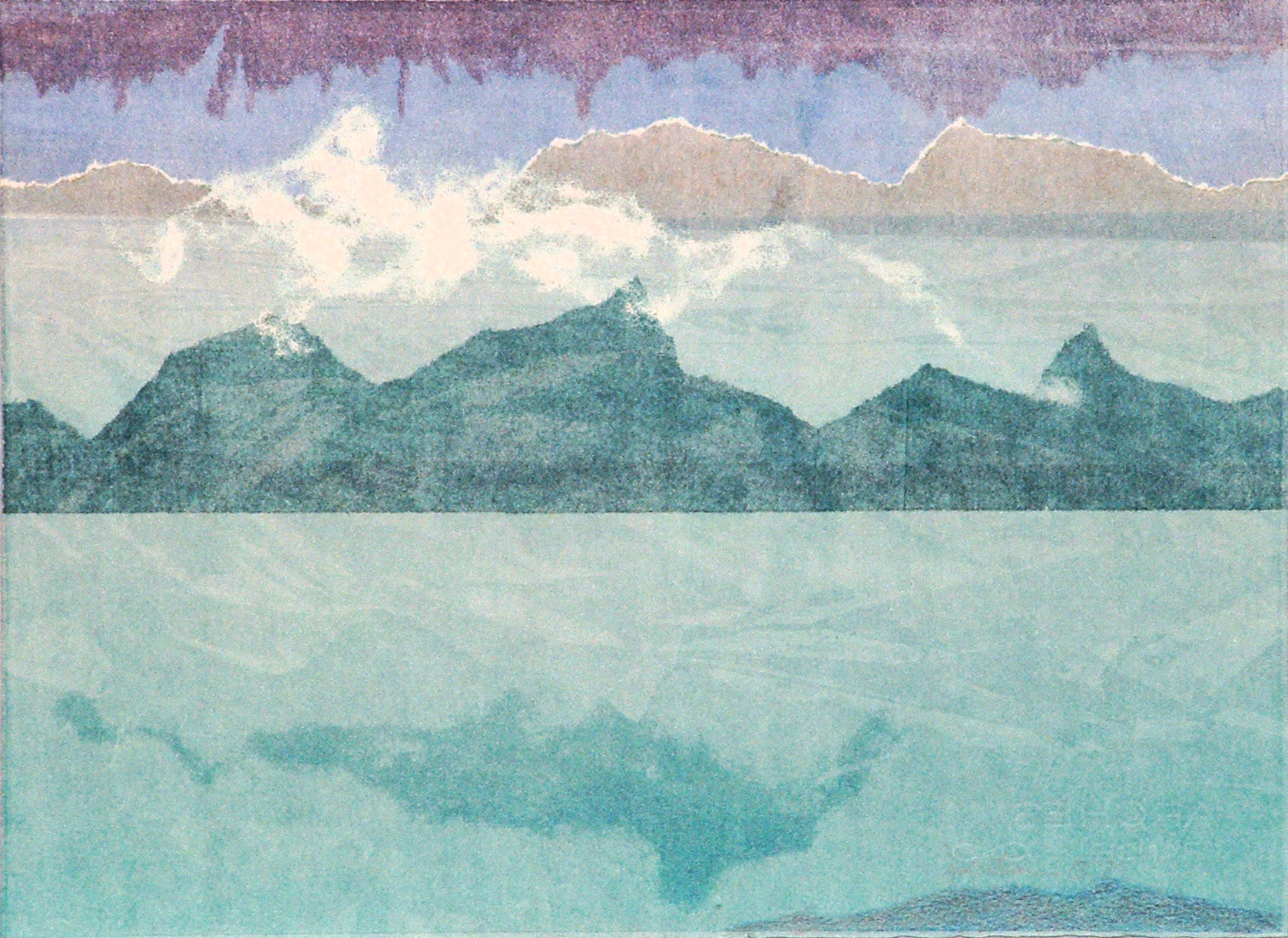 image of monotype Reflecting Skies
